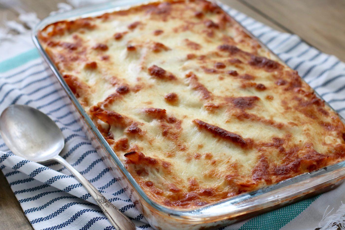 Neapolitan Baked Ziti Recipe