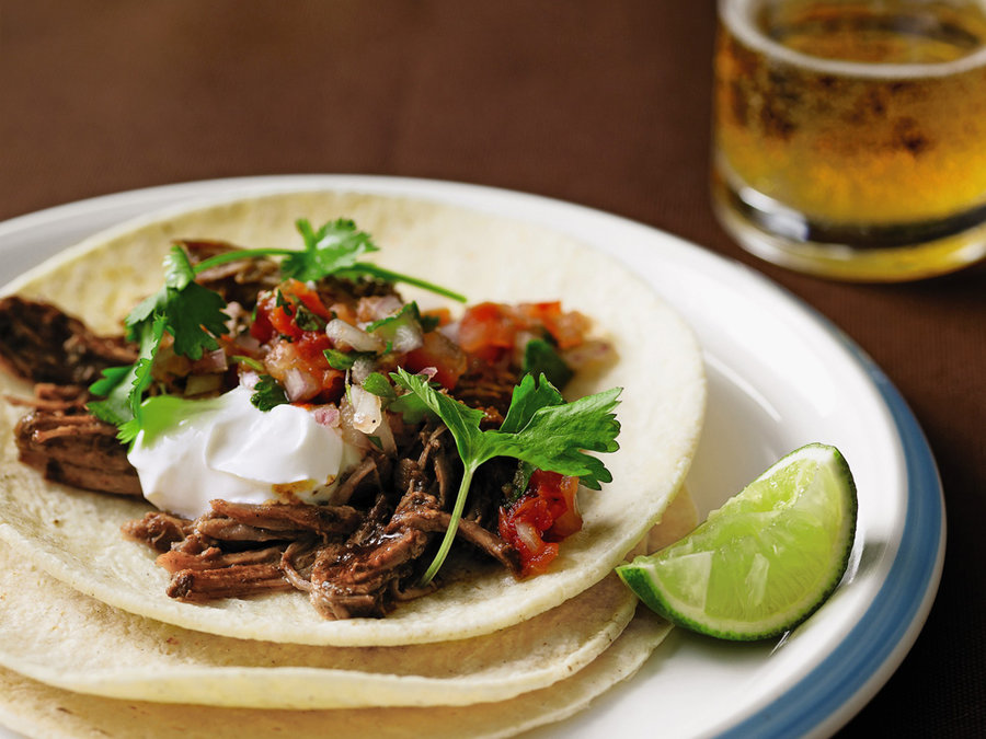 Slow Cooker Pulled Pork Tacos Real Simple Recipe