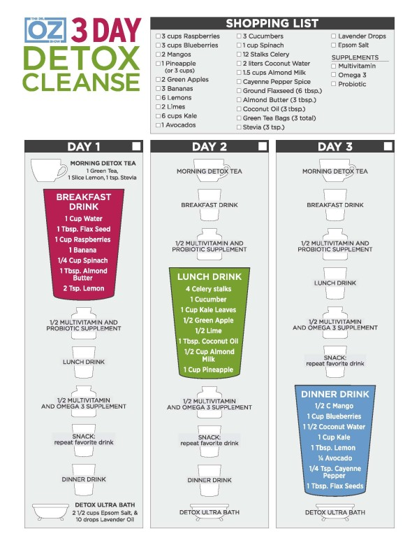 Dr Oz 3 Day Detox Cleanse (Day 1)