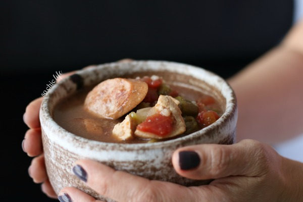 Chicken and sausage gumbo New Orleans style is a long time family recipe is perfect for celebrating Mardi Gras on Fat Tuesday!