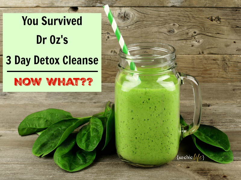You Survived Dr Oz's 3 Day Cleanse – Now What?