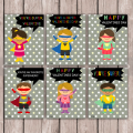 Superhero Printable Valentines Card via So Chic Life