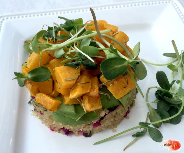 Quinoa & Butternut Squash Stacks from the Beauty Detox Book by Kimberly Synder