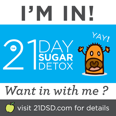 i'm taking the 21 day sugar detox challenge!