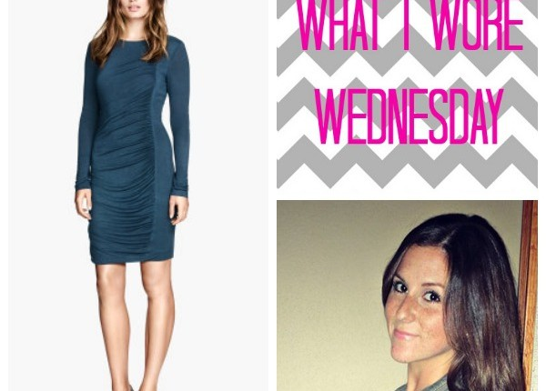 what i wore wednesday H&M draped dress