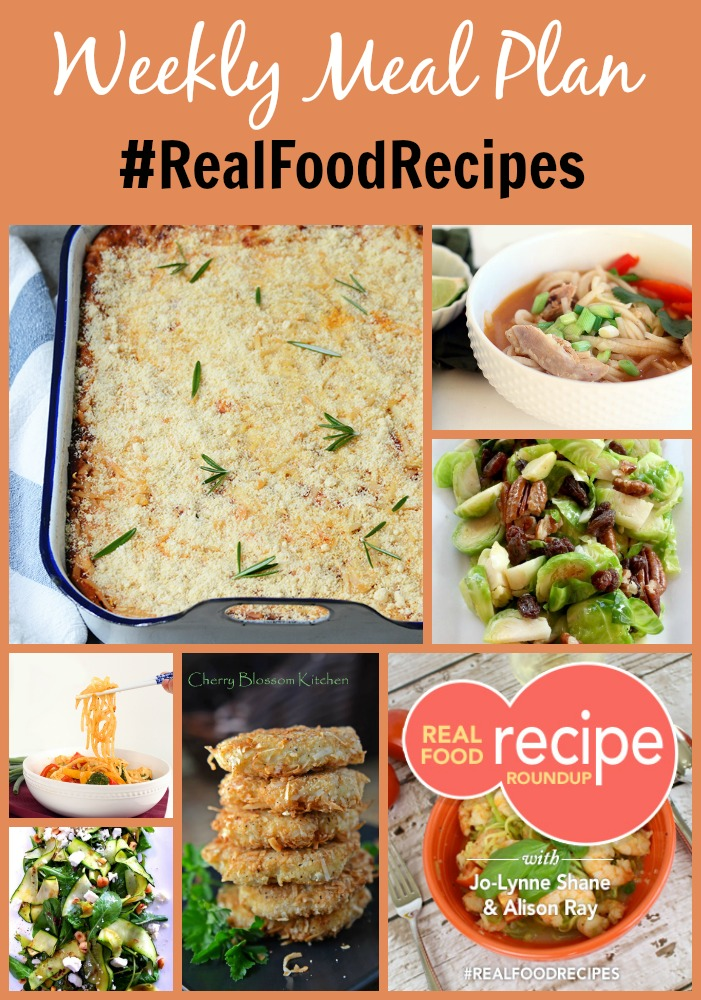 real food recipe round up + weekly meal plan december 28th