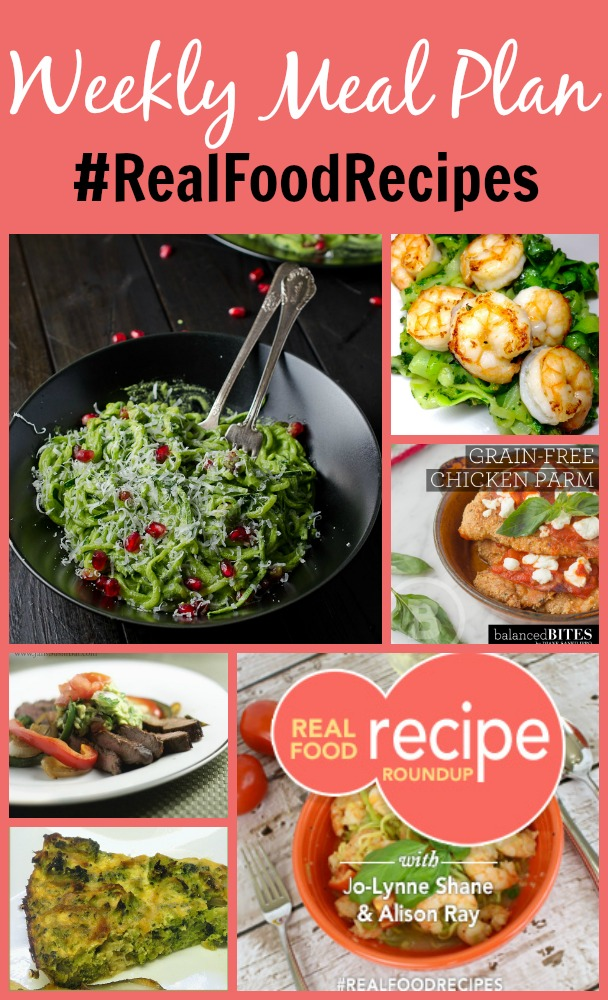 real food recipe round up + weekly meal plan january 3rd