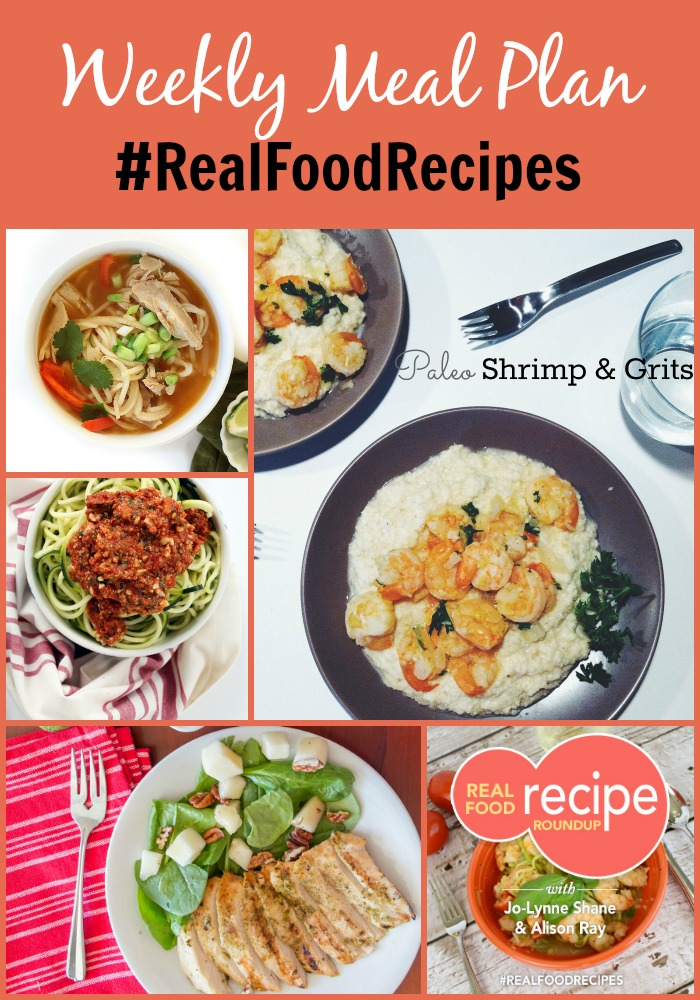 real food recipe round up + weekly meal plan january 10th