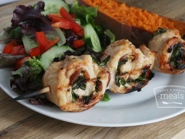 real food recipe round up + weekly meal plan featuring Gluten Free Dairy Free Chicken Pinwheels