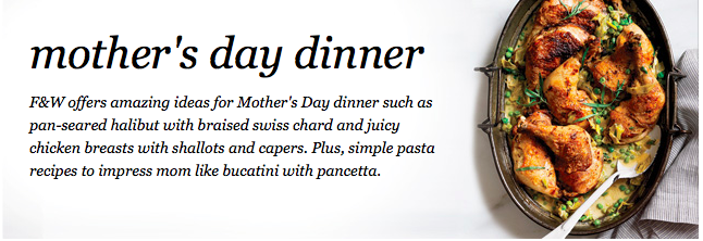 Weekly Meal Plan Featuring Mother's Day Dinner Ideas