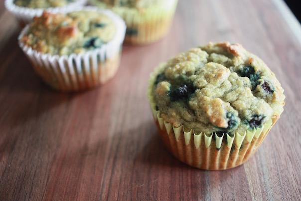 banana blueberry muffins tapioca flour