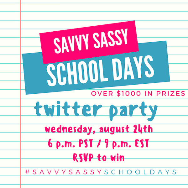 Savvy Sassy School Days Twitter Party