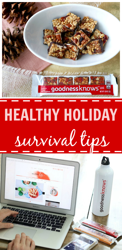 Healthy Survival Tips for the Holiday Season with @goodnessknows #tryalittlegoodness #ad