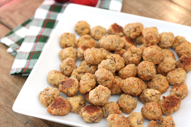 Sausage balls are one of our favorite holiday appetizer and a big hit with any crowd. They continue to be one of my most-requested holiday recipe!