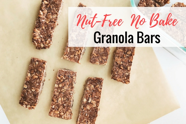 Nut-Free No Bake Granola Bar Recipe #glutenfree