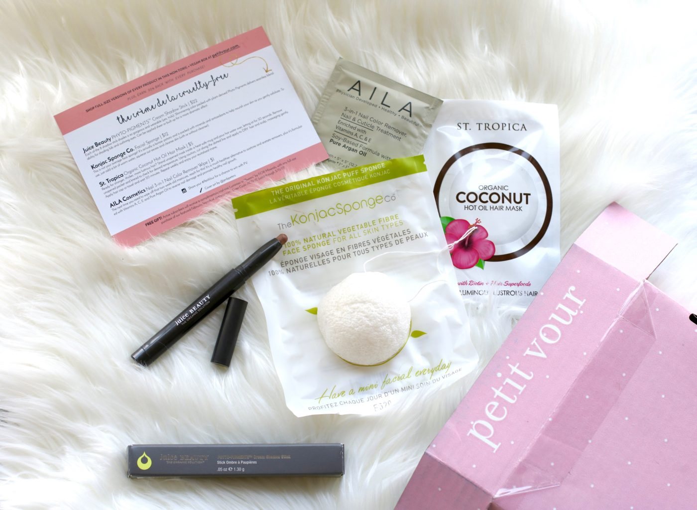We're loving the Petit Vour Subscription Box, a monthly beauty box filled with luxe vegan beauty: skincare, makeup, and more.