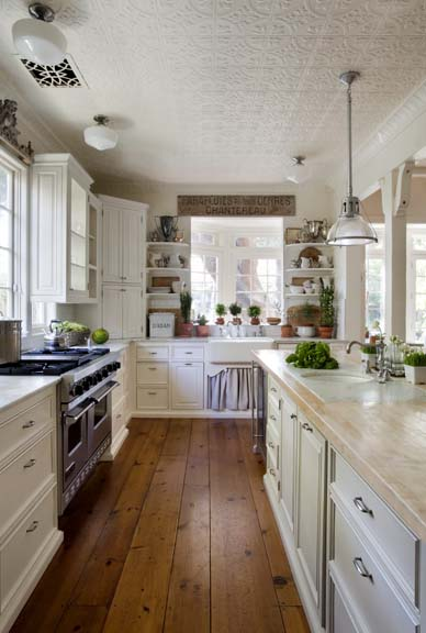 Kitchen Trend: Tin Ceiling Tiles | So Chic Life