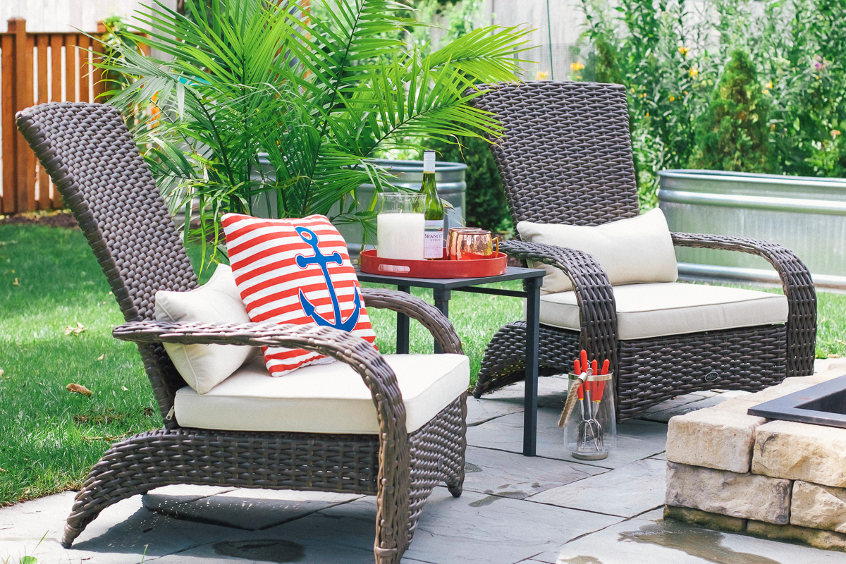 Update patio with kmart so chic life for Outdoor furniture kmart