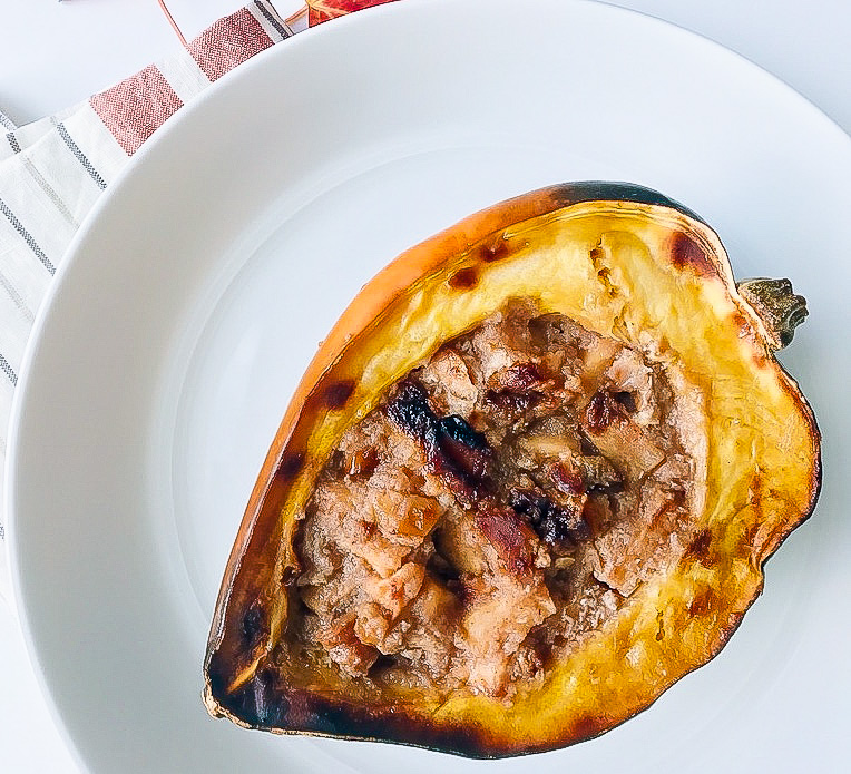 Baked Apple Stuffed Acorn Squash