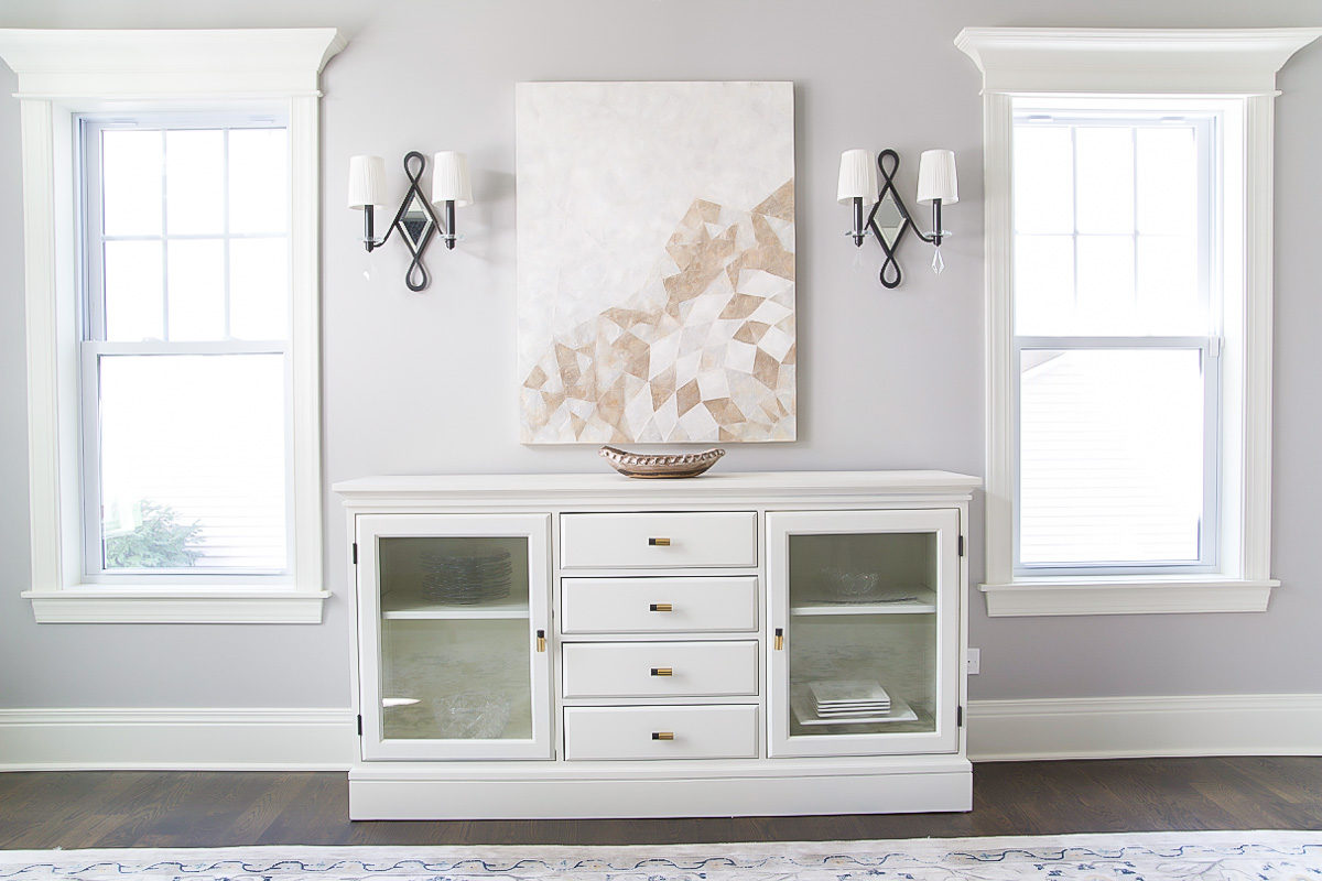 How to Paint Pottery Barn Furniture: Buffet Makeover